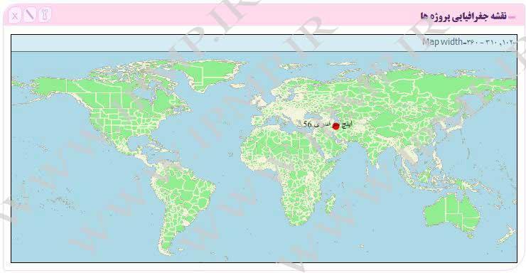 ویجت نقشه پروژه